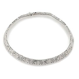 Bulgari Parentesi Diamond 18k White Gold Wide Collar Necklace