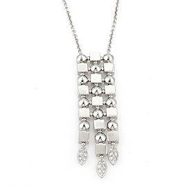 Bulgari Bulgari LUCEA Diamonds 18k White Gold Long Pendant & Chain Necklace