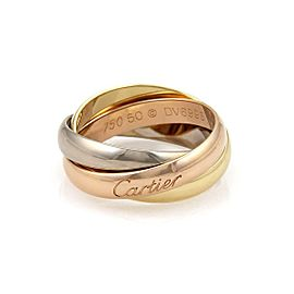 Cartier Trinity 18k Tricolor Gold 3.5mm Triple Band Ring Size 5