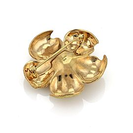Tiffany & Co. 18k Yellow Gold Dogwood Large Flower Brooch Pin