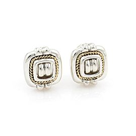 Tiffany & Co.Vintage Sterling 18k Yellow Gold Fancy Square Clip On Earrings