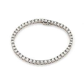 Estate 4 Carats Diamond 14k White Gold Tennis Bracelet