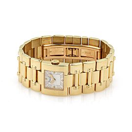 Piaget Dancer 18k Yellow Gold White Dial Ladies Quartz Watch 50010 106 grams