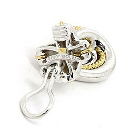 Tiffany & Co. Sterling 18k Yellow Gold Crossover Loop Dangle Earrings