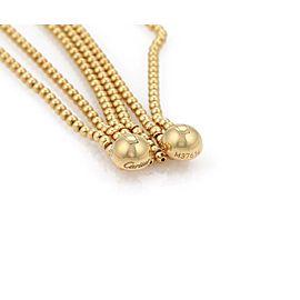 Cartier 18k Yellow Gold Multi-Strand Beaded Bracelet