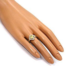David Yurman Diamond 18k Yellow Gold Quatrefoil Ring Size 6