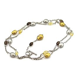 Roberto Coin Diamond & Gems 18k Two Tone Gold Double Strand Beaded Necklace