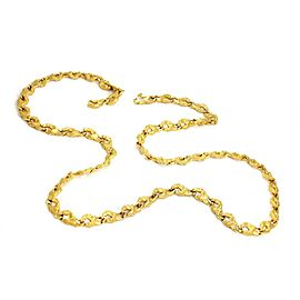 Carrera y Carrera 18k Yellow Gold All Around Horse Link Necklace
