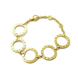 Bulgari Bulgari 18k Yellow Gold Signature 6 Circle Link Bracelet