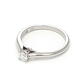 Cartier Round Diamond Platinum Engagement Ring Size 5