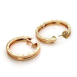 Bulgari Bulgari B Zero-1 18k Rose Gold 4.5mm Wide Hoop Earrings