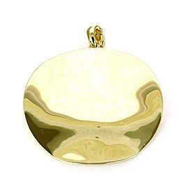 Ippolita 18k Yellow Gold Wave Style Large Round Pendant
