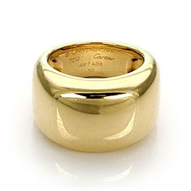 Cartier Nouvelle Vague 18k Yellow Gold Wide Band Ring Size 5.5