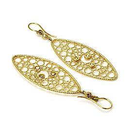 Roberto Coin Mauresque Diamond 18k Yellow Gold Long Fancy Dangle Earrings