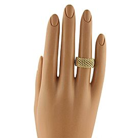 Tiffany & Co. Somerset 18k Yellow Gold 10mm Wide Mesh Band Ring Size 8