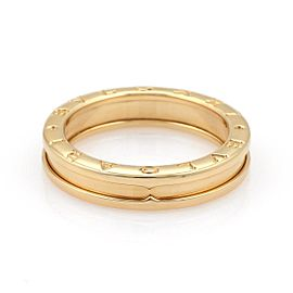 Bulgari Bulgari B Zero-1 Single 5mm 18k Yellow Gold Band Ring Size 7