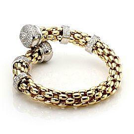 Fope 6.78ct Diamond 18k Two Tone Gold Flex Link Fancy Flex Bracelet