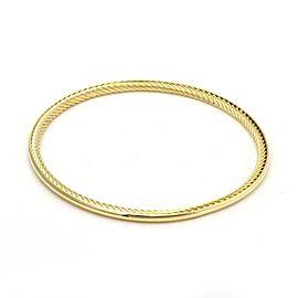 David Yurman 18k Yellow Gold Full Circle Cable Bangle