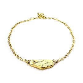 Siedengang Diamond 18k Yellow Gold Platinum Figure Pendant & Chain