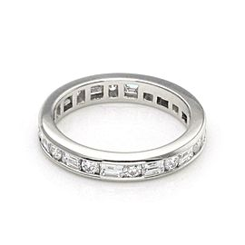 Tiffany & Co. 1.30ct Diamond Platinum Full Circle Eternity Band Ring Size 6.25