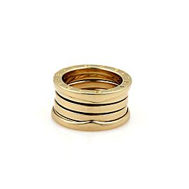 Bulgari Bulgari B Zero-1 Wide 18k Yellow Gold 10mm Band Ring Size 4