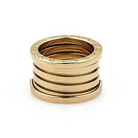 Bvlgari Bulgari B Zero-1 18k Yellow Gold 14mm Wide Band Ring Size 54-US 6.5
