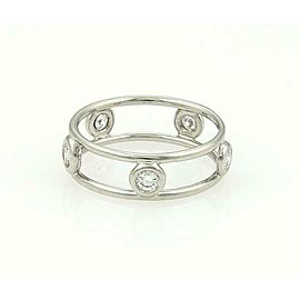 Tiffany & Co. Peretti Diamond By The Yard 5.5mm Wide Band Ring Size 6.5