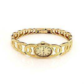 Rolex Vintage 18k Yellow Gold Case Band Hand Wind Ladies Oval Wrist Watch