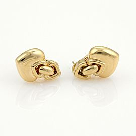 Bvlgari Bulgari 18k Yellow Gold Hearts Drop Earrings