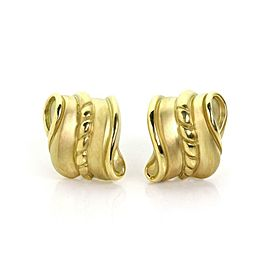 Kieselstein Cord 18k Yellow Gold Fancy Curved Shell Post Clip Earrings