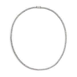 5.00 Carats Diamond Platinum 3mm Wide Line Tennis Necklace