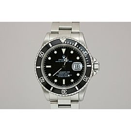 Rolex Submariner Stainless Steel Watch 16610 U Series