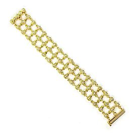 Cassis 1.75ct Diamond 18k Yellow Gold 3 Row Ladder Style Chain Bracelet