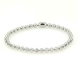 Cartier 2.04ct Diamond 18k White Gold Bead Tennis Bracelet