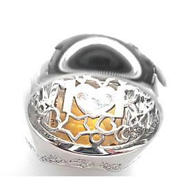 Pasquale Bruni 18k White Gold Diamond Citrine Large Ring