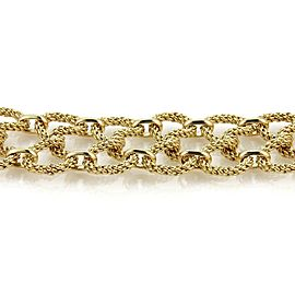 "Tiffany & Co. Germany 18k Yellow Gold 1.5"" Wide Twisted Mesh Wire Bracelet"