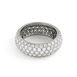 Tiffany & Co Platinum Diamond Etoile 5 Raw Band Ring Size 8 Retail