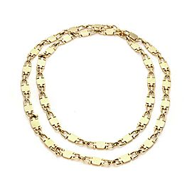 Cartier Vintage 18k Yellow Gold Fancy Flat Link Long Necklace