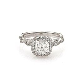 Diamond Solitaire 1.30ct Cushion Cut D-SI218k Gold Engagement Ring