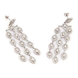 Estate 18K White Gold Fancy 8.5ct Diamond Chandelier Earrings