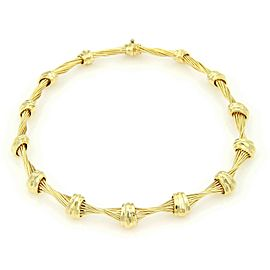 Henry Dunay 18k Yellow Gold Twisted Wire & Hand Hammered Design Choker Necklace