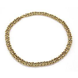 Tiffany & Co. Vintage 18k YGold X Design 9mm Wide Fancy Collar Necklace