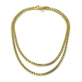 "David Yurman 18k Yellow Gold 3.6mm Medium Box Link Chain 32"" Long"