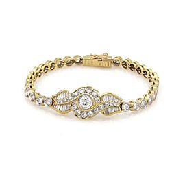 4.82ctw Diamond 18k Two Tone Gold Fancy Design Bracelet