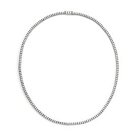 New 5.00 Carats Diamond Platinum 3mm Wide Line Tennis Necklace