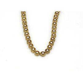4.00ct Diamond 14k Yellow Gold Circle Bead Link Tennis Eternity Necklace