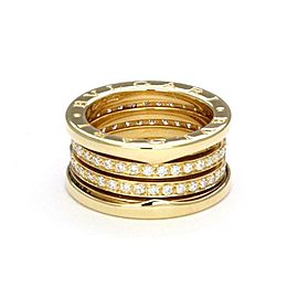 Bvlgari Bulgari B Zero-1 Diamond 11mm 18k Yellow Gold Band Ring Size 50