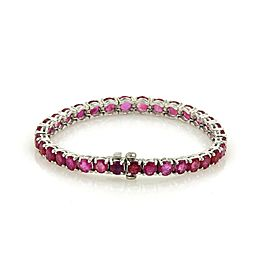 Vintage 16.5ct Ruby Platinum Graduated Tennis Bracelet