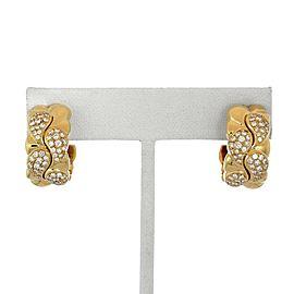 """Chopard """"Casmir"""" 1.34ct Diamond 18k Yellow Gold Wide Hoop Earrings"""
