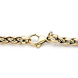 Estate Diamond 14k Gold Double Horse Stirrup Pendant Woven Chain Necklace